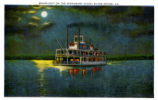 Moonlight on the Mississippi River, Baton Rouge, La