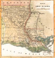 1863 Map of Louisiana