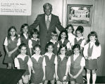Mayor Dumas and Camp Fire Girls