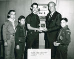 Mayor Dumas and Boy Scouts