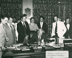 Signing Contracts for the Governmental Building