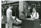 Ida Rice and Gladys Brown at the Old Main Library