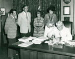 Signing Contract for the Mid-City Library Expansion