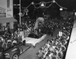 Fire Chief Edgar LeJeune in the 1966 Baton Rouge Christmas Parade