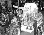 Fire Department Float in Christmas Parade
