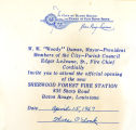 The Sherwood Forest Fire Station and Police Precinct Dedication Invitation
