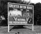 Billboard advertising National Fire Prevention Week