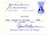 Membership Card for the Baton Rouge Association for Retarded Children