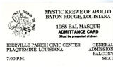 Admittance Card 1985